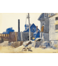 Printing on canvas: Edward Hopper - House on the Shore