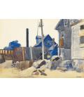 Edward Hopper - Casa sulla Riva. Stampa su tela
