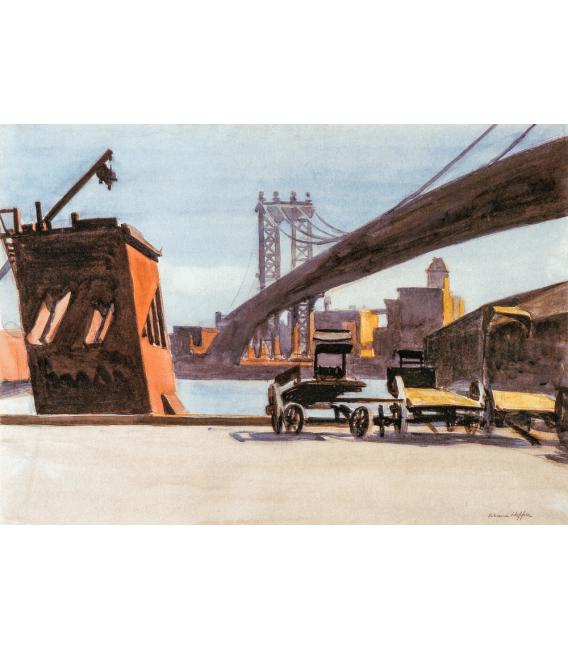 Printing on canvas: Edward Hopper - Manhattan Bridge