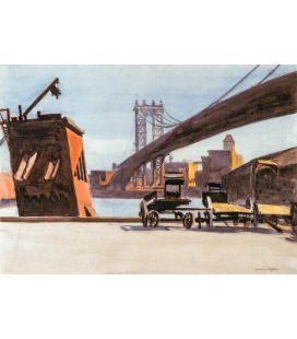 Edward Hopper - Manhattan Bridge. Printing on canvas