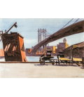 Stampa su tela: Edward Hopper - Manhattan Bridge
