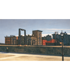 Stampa su tela: Edward Hopper - Manhattan Bridge Loop