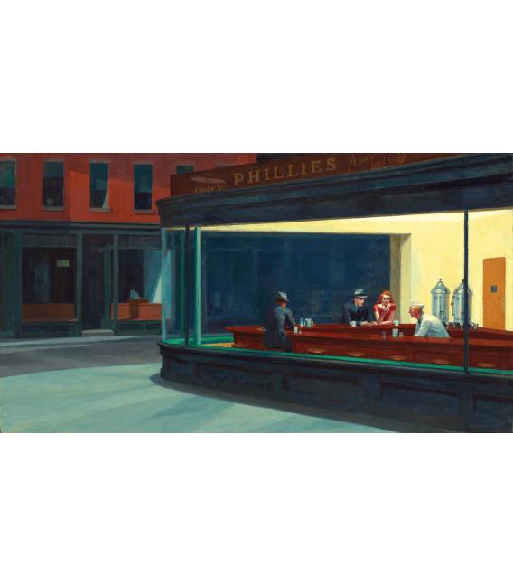 Stampa su tela: Edward Hopper - Nighthawks