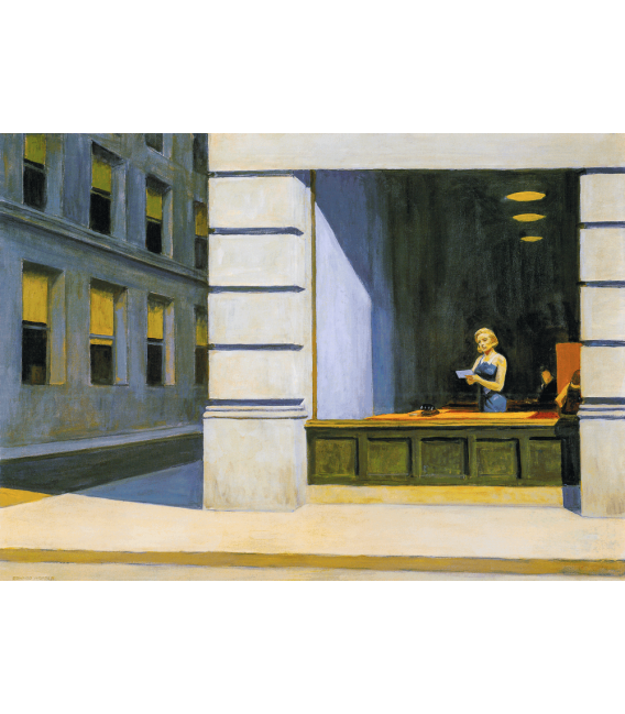 Stampa su tela: Edward Hopper - New York Office