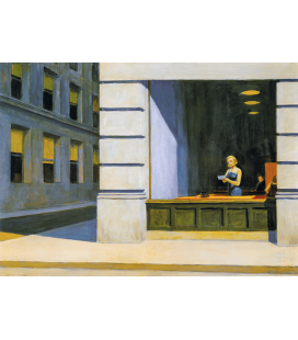 Edward Hopper - Ufficio a New York . Stampa su tela