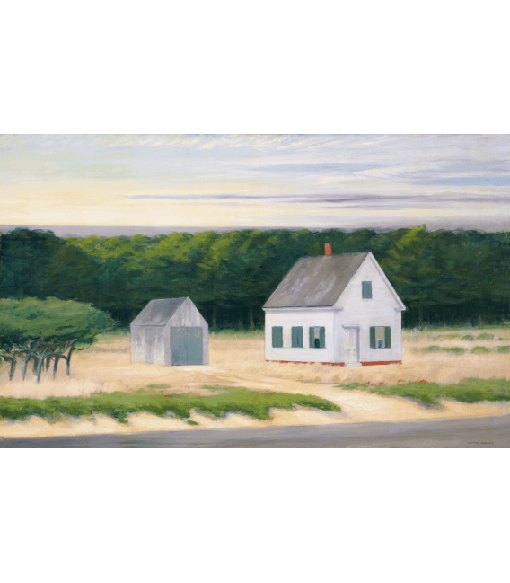 Printing on canvas: Edward Hopper - October On Cape Cod