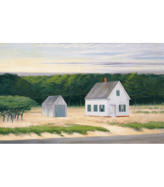 Stampa su tela: Edward Hopper - October On Cape Cod