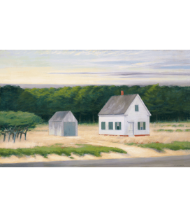 Stampa su tela: Edward Hopper - October On Cape Cod