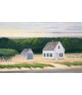 Edward Hopper - Ottobre a Cape Cod. Stampa su tela