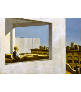 Stampa su tela: Edward Hopper - Office in a small City
