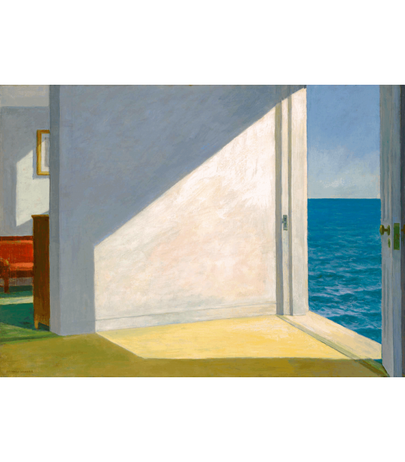 Printing Giclèe on canvas: Edward Hopper - Rooms by the sea