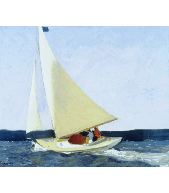 Stampa su tela: Edward Hopper - Sailing