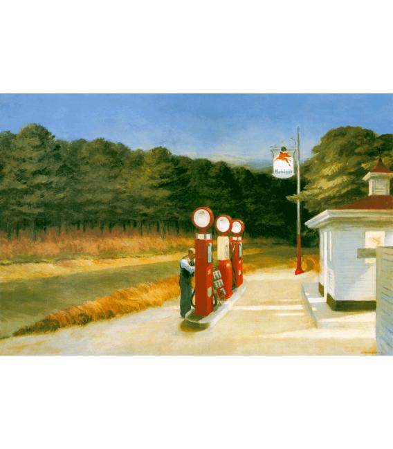 Stampa su tela: Edward Hopper - Stazione della standard oil amarillo texas