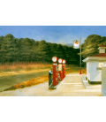 Edward Hopper - Standard Oil Station Amarillo Texas. Printing on canvas