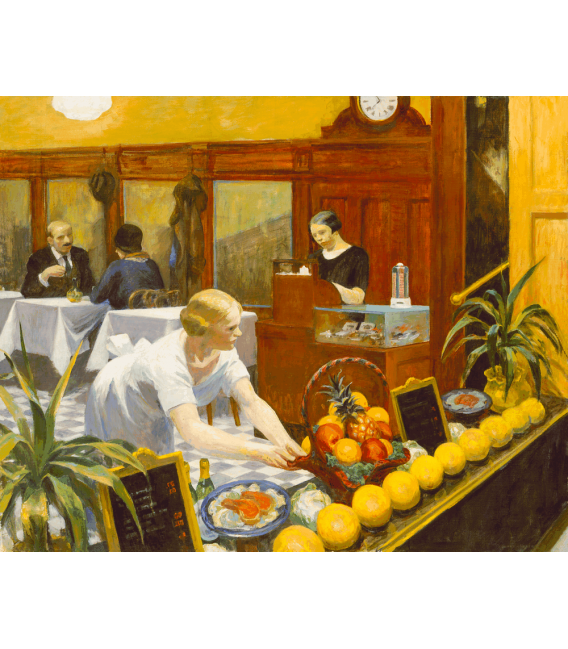 Printing on canvas: Edward Hopper - Tables for Ladies