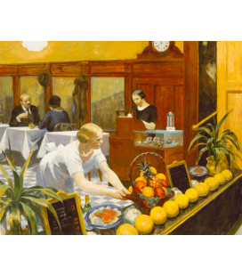 Edward Hopper - Tables for Ladies. Printing on canvas