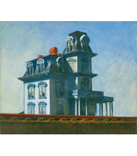 Stampa su tela: Edward Hopper - The House by the Railroad