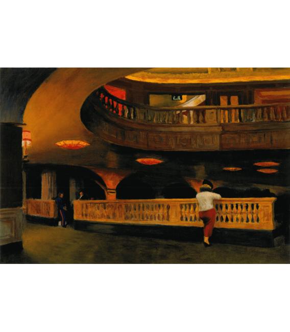 Stampa su tela: Edward Hopper - The Sheridan Theatre