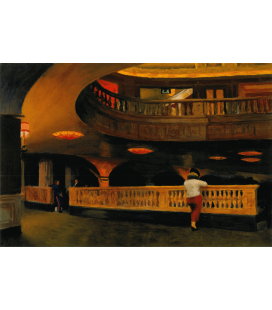Edward Hopper - The Sheridan Theater. Printing on canvas