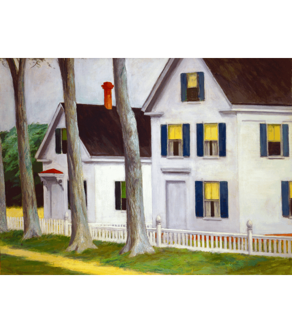 Printing on canvas: Edward Hopper - Two Puritans
