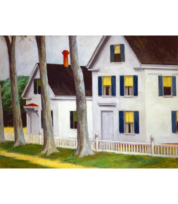Stampa su tela: Edward Hopper - Two Puritans