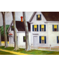 Edward Hopper - Two Puritans. Printing on canvas