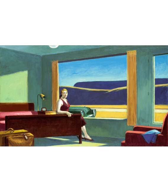 Printing on canvas: Edward Hopper - Western Motel