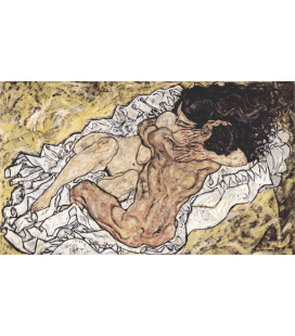 Printing on canvas: Egon Schiele - Embrace (pair of lovers II)