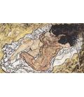 Stampa su tela: Egon Schiele - Abbraccio (coppia d'amanti II)