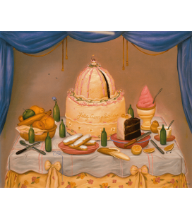 Fernando Botero - Happy Anniversary. Printing on canvas