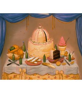 Stampa su tela: Fernando Botero - Buon Anniversario