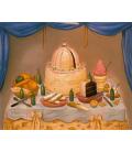 Fernando Botero - Happy Anniversary. Printing on canvas