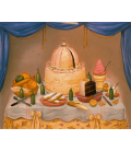 Fernando Botero - Buon Anniversario. Stampa su tela
