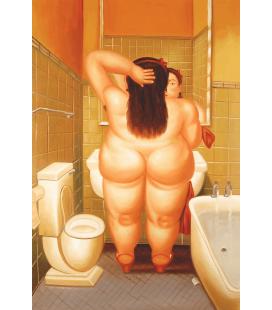 Fernando Botero - Donna in Bagno. Stampa su tela