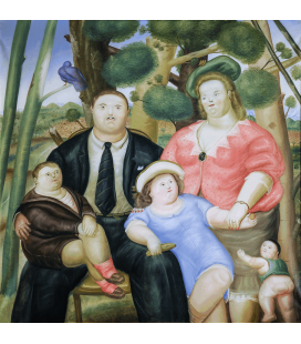 Fernando Botero - Family. Printing on canvas