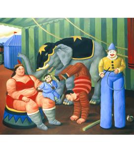 Stampa su tela: Fernando Botero - Gente del Circo con Elefante