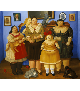 Fernando Botero - The Sisters. Printing on canvas