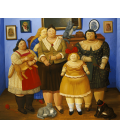 Fernando Botero - Le Sorelle. Stampa su tela