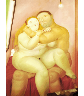 Fernando Botero - Lovers. Printing on canvas