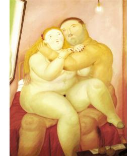 Fernando Botero - Amanti. Stampa su tela