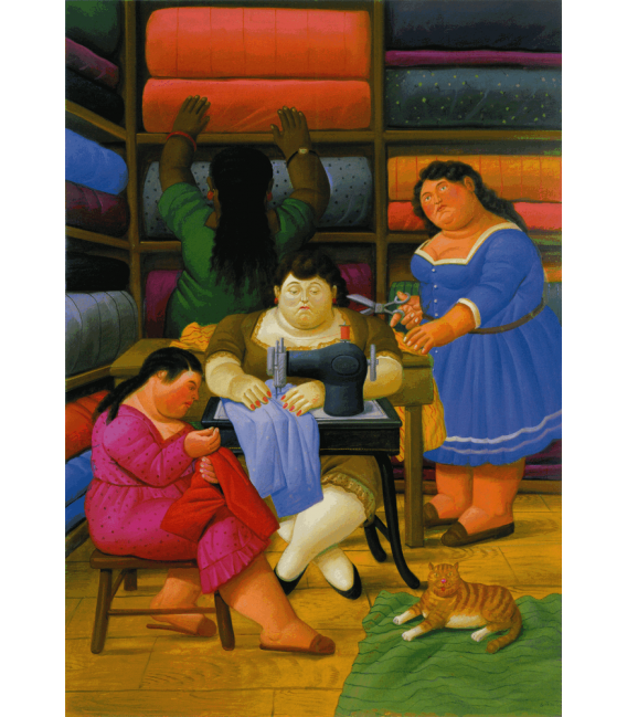Printing on canvas: Fernando Botero - The Seamstresses