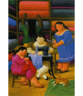 Fernando Botero - The Seamstresses. Printing on canvas
