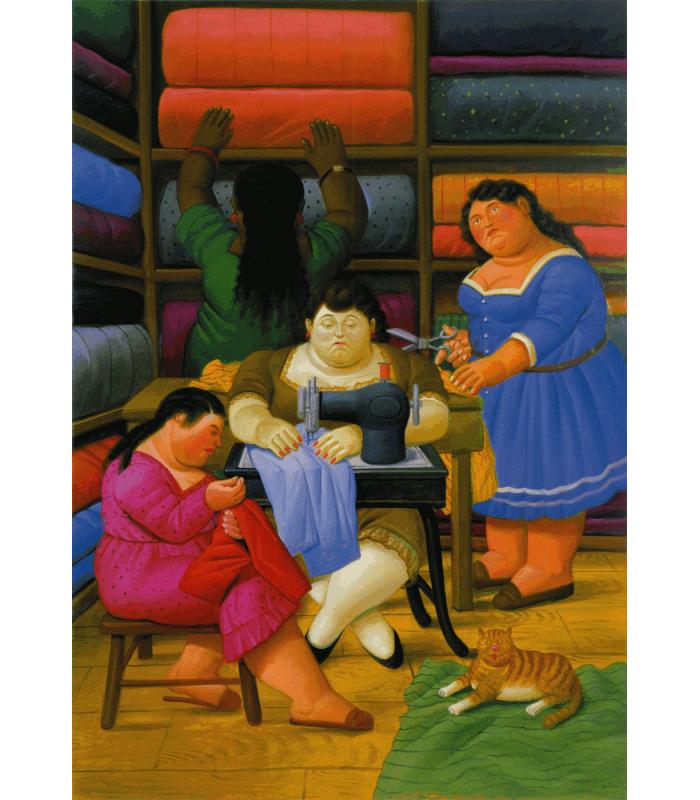 Stampa giclée su tela: Fernando Botero - Donna in Bagno
