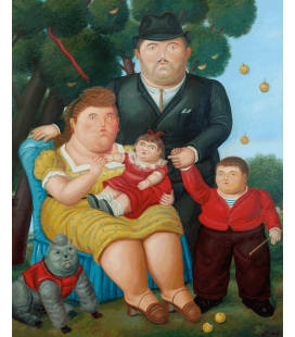 Fernando Botero - A familia. Printing on canvas