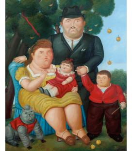 Stampa su tela: Fernando Botero - Una familia