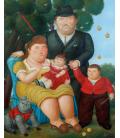 Fernando Botero - A familia. Printing on canvas