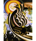 Printing on canvas: Fortunato Depero - Train Born Out of the Sun