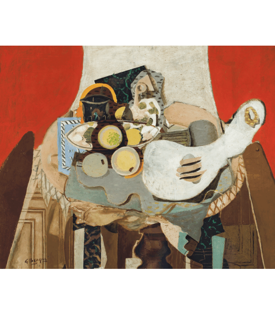 Printing on canvas: Georges Braque - Still life on guitar