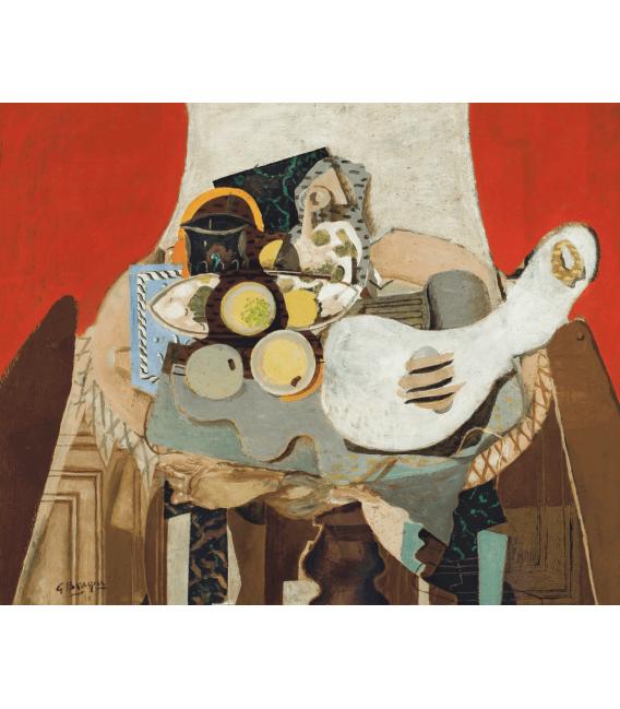 Stampa su tela: Georges Braque - Nature morte à la guitare