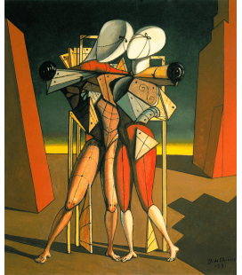Giorgio De Chirico - Hector and Andromache. Printing on canvas